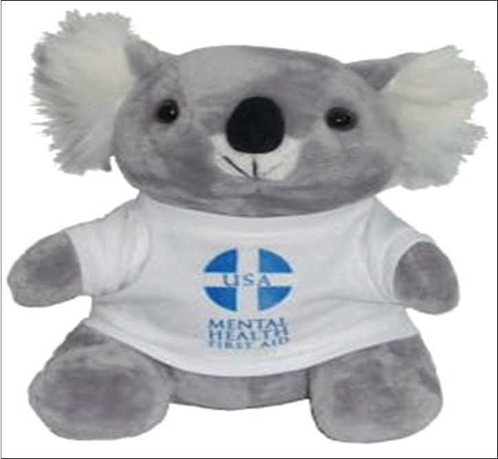 Figure 3: Mental Health First Aid Mascot (NIMH (2018) [photo] Retrieved from: <a target=
